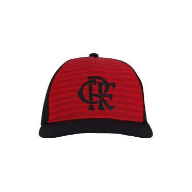 Boné Aba Curva do Flamengo CW adidas - Snapback - Adulto - PRETO VERMELHO  adidas 1b16189a801