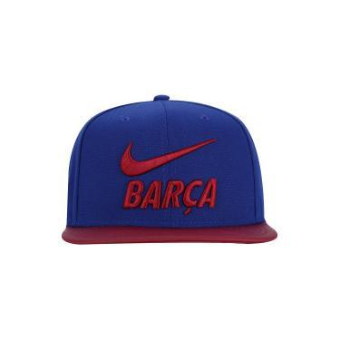 cf806c2ee1 Boné Aba Reta Barcelona Pro Pride Nike - Snapback - Adulto - AZUL  ESC VERMELHO