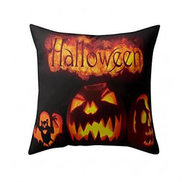 Imagem de SL&LFJ Capa de almofada com tema de Halloween Capa de almofada de algodão para decoração de casa e escritório para sofá, cama, decoração de carro, festa, festival, sala de estar, presente para amigos da família (cor: J)