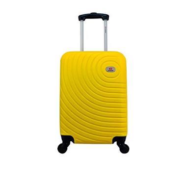Mala Rígida De Fibra 360° Tamanho Bordo - Gladiador A7 - Amarelo