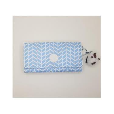 Carteira kipling azul e branco