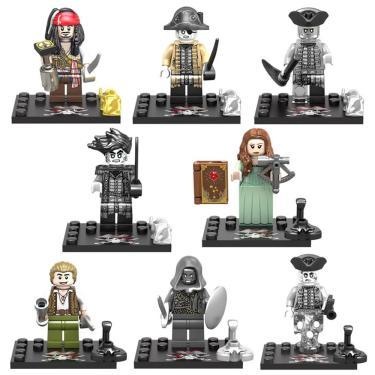 Compatível lego figuras piratas do caribe mortos não contar contos jack salazar blocos de construção 241852653