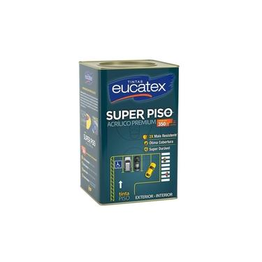 Tinta Piso Super Eucatex Acrílico Premium 18L Cinza Escuro