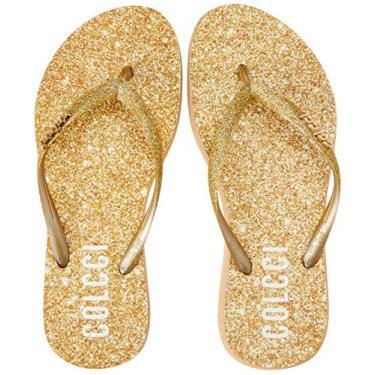 Chinelo Glitter Colcci Fun Feminino Ouro 33-34