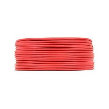 Cabo Força Fio Bateria TechNoise 4mm 50M Vermelho PVC
