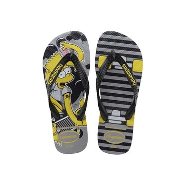 Chinelo Havaianas Infantil THE Simpsons 27/8 Cinza ACO