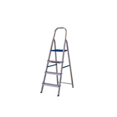 Escada De Alumínio 4 Degraus Dobrável Domestico - Alumasa