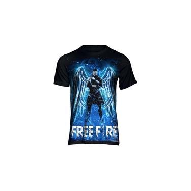 Camiseta Camisa Free Fire Angelical Mestre Jogo Full 3d 36 Preto