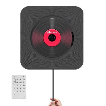 Leitor de cd mp3 bluetooth portátil montado na parede home áudio boombox pré-natal com controle