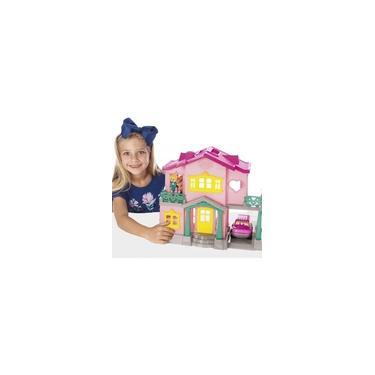 Imagem de Casinha De Boneca C/ Bonecos Carrinho E Acessórios Sweety-home Maral Brinquedo Presente Menina