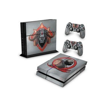 Skin Adesivo para PS4 Fat - God Of War 4