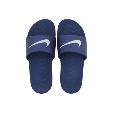b9b163473d Chinelo Nike Kawa - Slide - Masculino - AZUL ESC BRANCO Nike