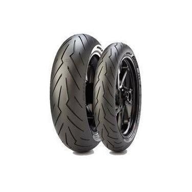 Pneu Pirelli Diablo Rosso 3 190/55-17 + 120/70-17 Combo   Marca: Pirelli Referência:  Seção: STREET