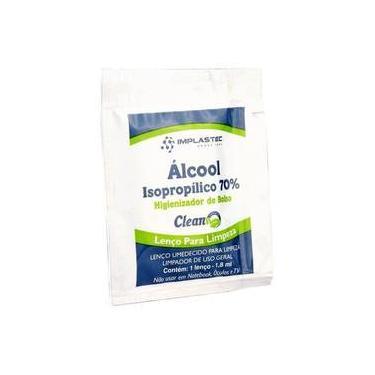 Álcool Isopropílico sache - 1,8ml - Implastec (lenço umedecido)