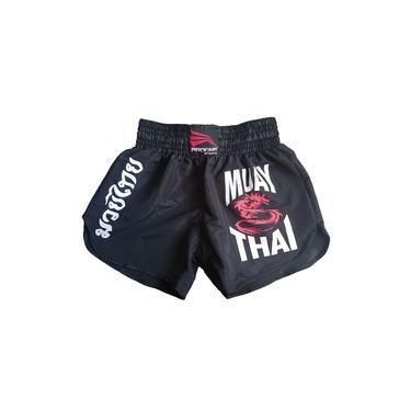 Short Muay Thai Feminino Preto Progne Sports