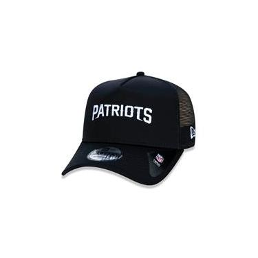 Bone 9Forty New England Patriots Nfl Aba Curva Preto New Era