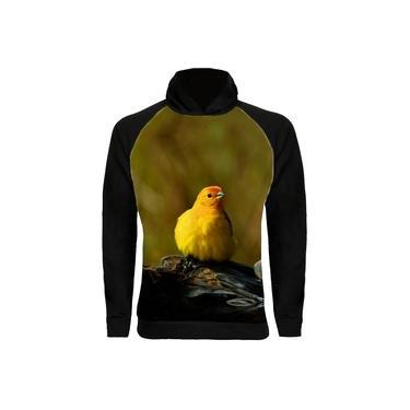 Moletom Raglan Pássaro Canario da Terra