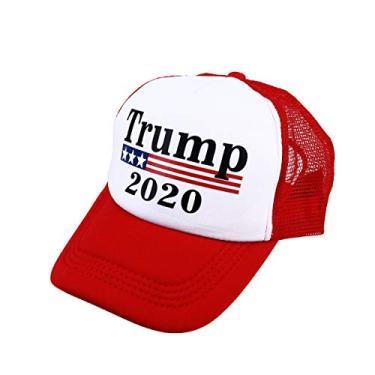 ABOOFAN Trump 2020 Sun Hat Presidente criativo Eleição Boné de beisebol Chapéu exclusivo de Hip Hop para homens e mulheres - vermelho decoração de casa