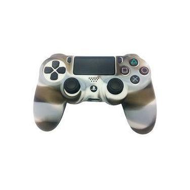Case Capa De Silicone Para Controle Dualshock 4 Playstation 4 Ps4 -  Branco preto 40362e3ee6