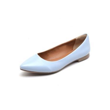 Sapatilha Feminina Bico Fino Top Franca Shoes Azul Bebe