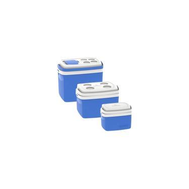 Imagem de Kit 3 Caixas Termicas 32l/12l/5l Cooler Soprano Azul