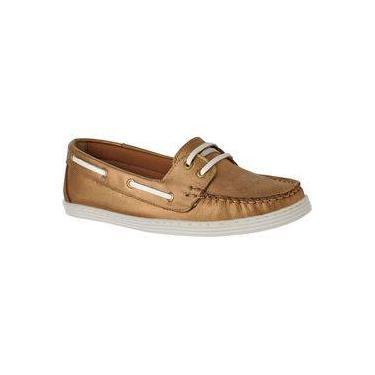 Sapato Mocassim Dockside Feminino Conforto Couro Legítimo L.A. Bronze