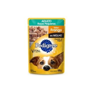 Ração Pedigree Sachê Frango Ao Molho Para Cães Adultos De Raças Pequenas - 100 G