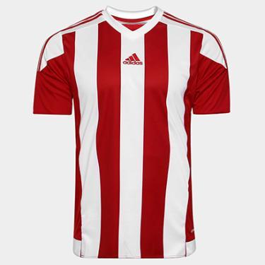 Blusa Esportiva Adidas Camiseta Vermelho Netshoes  9a43d2eb7efe2
