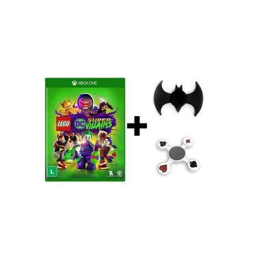 Jogo Lego DC Super Villains + Hand Spinner Batman + Naipes - Xbox One