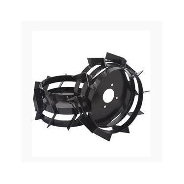 Rodas Ferro Motocultivador Tratorito 6.5hp Par Branco