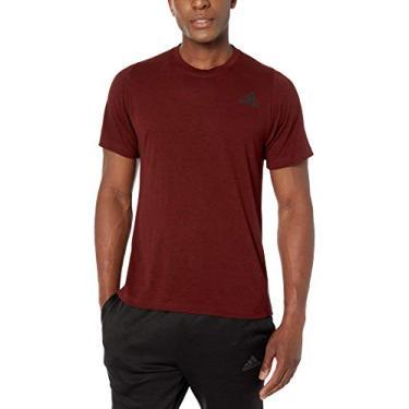Camiseta Adidas Freelift Sport Heather, Red/Black, Medium