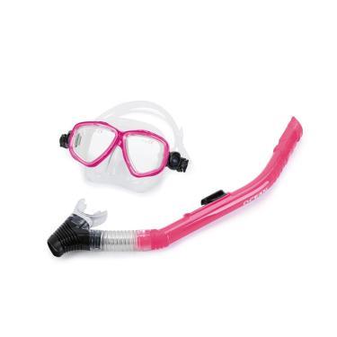 Kit De Máscara E Snorkel Ocean Mormaii / Rosa