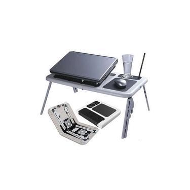 Mesa Notebook Suporte Com Cooler Dobrável Com Suporte Para Copo E Ajustável Ergonômico