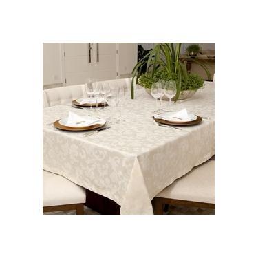 Imagem de Toalha de Mesa Impermeavel Quadrada 160x160 Pietra Home Floral cm - Angora