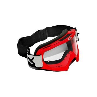 Óculos Motocross Mattos Racing Combat Lente Cristal Vermelho