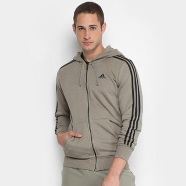 Jaqueta de Moletom Adidas Ess 3S Fz Ft Masculina - Masculino 001b73a2935bd