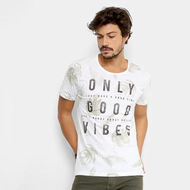 43300ab63d Camiseta Kohmar Gola Careca Only Good Vibes Masculina - Masculino