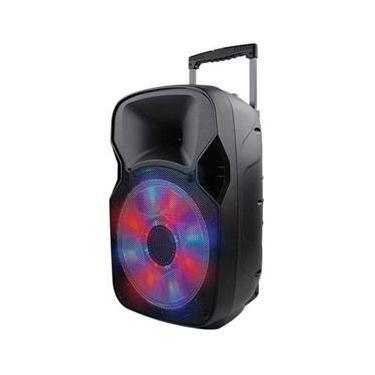 """Caixa De Som Multiuso Amplificada Usb/Sd/Fm/Bt Com Microfone 12 """"""""150W Rms Com Bateria Interna Sp219"""