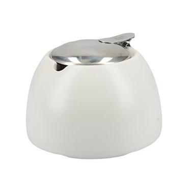 Acucareiro Branco C/Tampa Aco Inox 450Ml Creative Tops