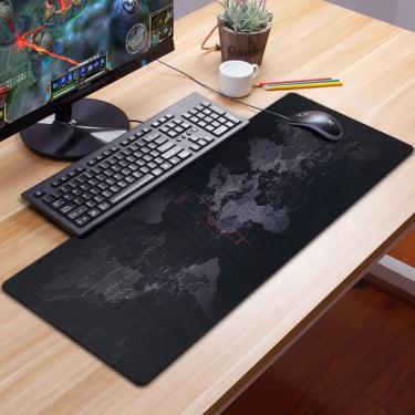 Gaming mousepad impressão teclado mouse pad gamer xxl razer mouse pad gel mapa almofada grande