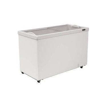 Freezer Horizontal Esmaltec com Tampa de Vidro para Sorvetes e Congelados 464 Litros AF400