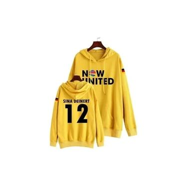 Moletom Canguru Infantil Blusa Now United Sina Deinert 12 Amarelo