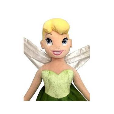 Imagem de Brinquedo Infantil Boneca De Pelúcia Grande Fada Tinker Bell - 50 Centímetros De Altura - Sininho Do Peter Pan Disney - Long Jump