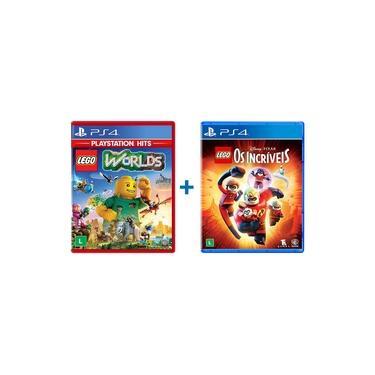 Combo Lego Worlds + Lego Os Incriveis - PS4
