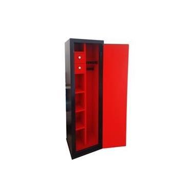 Imagem de Cofre para 10 Armas (04 longas e 06 curtas) RUBI A140 Preto com vermelho