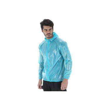 Jaqueta Corta-Vento Impermeável com Capuz Oxer Transparente - Masculina -  AZUL CLARO Oxer 3937d05088a2f