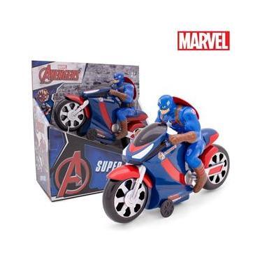 Imagem de Kit 2 Super Moto de Fricção Com Herói Vingadores Toyng
