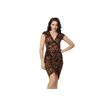 Vestido Drapeado DeMillus 95603 Laranja Sexy