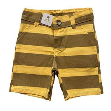Bermuda Jeans Infantil Listrada - Colorittá (Amarelo)