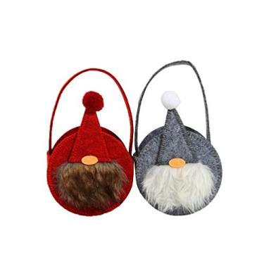 BESPORTBLE Bolsa para doces de Natal, bolsas de mão não tecidas, bolsas de presente festivas, bolsa de doces para crianças, bolsa de chocolate com tema de Natal, 2 peças